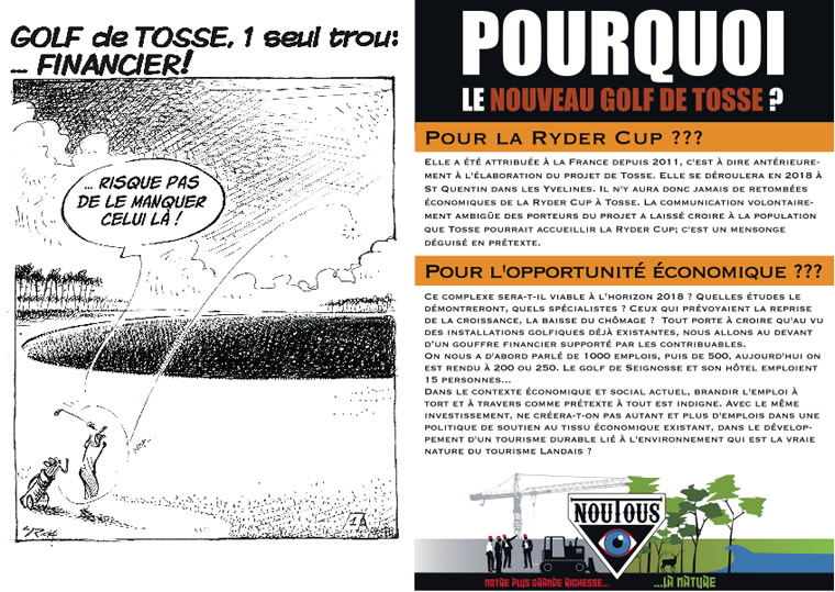 nouTous Golf de Tosse - Flyer-Recto