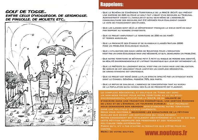 nouTous Golf de Tosse - Flyer-Verso