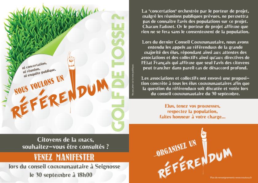 Golf de Tosse Référendum