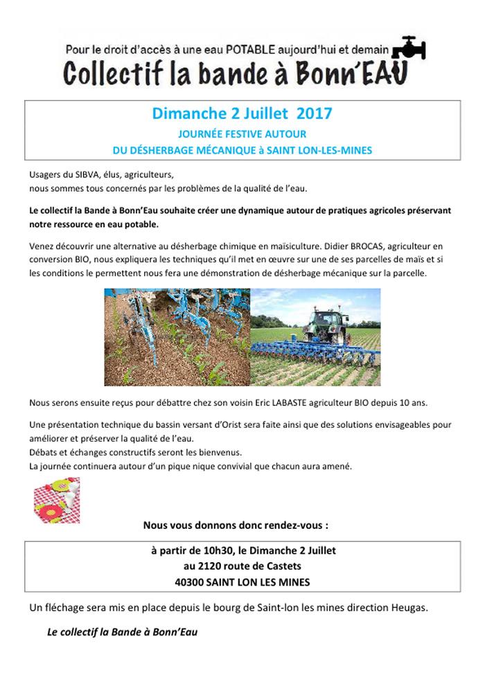 Bande de bonn'eau - Journée eau 2 juillet 2017