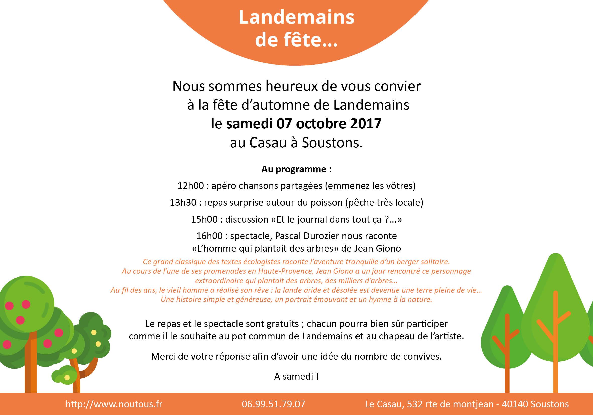 Invitation Landemains